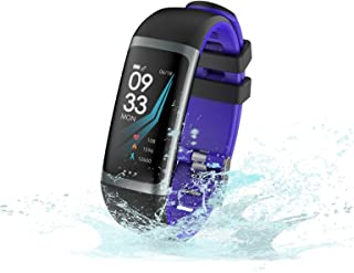 SHOUHUAN Pulsera Actividad, Pulsera Inteligente Pantalla Color HR con Pulsómetro Pulsera Deportiva y Monitor de Sueño de Actividad para Mujer Hombre Reloj Fitness Podómetro Blue