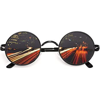 CGID E01 Retro Vintage Style Lennon Inspired Round Metal Circle Polarized Sunglasses for Women and Men