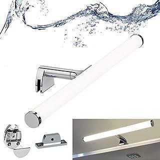 BarcelonaLED Applique de salle de bain lampe de miroir LED 7 W 40 cm étanche IP44 lumière maquillage blanc neutre 4 000 K ...