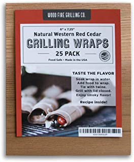 Cedar Grilling Wraps - 25 Pack (6