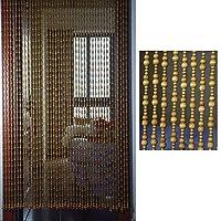 WEM 家の装飾的なビーズカーテン、ビーズカーテン無垢材のドアカーテンリビングルームベッドルームハンギングカーテンエントランスパーティションカーテン中華風、複数のサイズ,a,25本のストランド-80Cmx175Cm