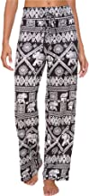 Artfish Women's Loose Baggy Yoga Long Pants Floral Printed Trousers Flowy Beach Pants
