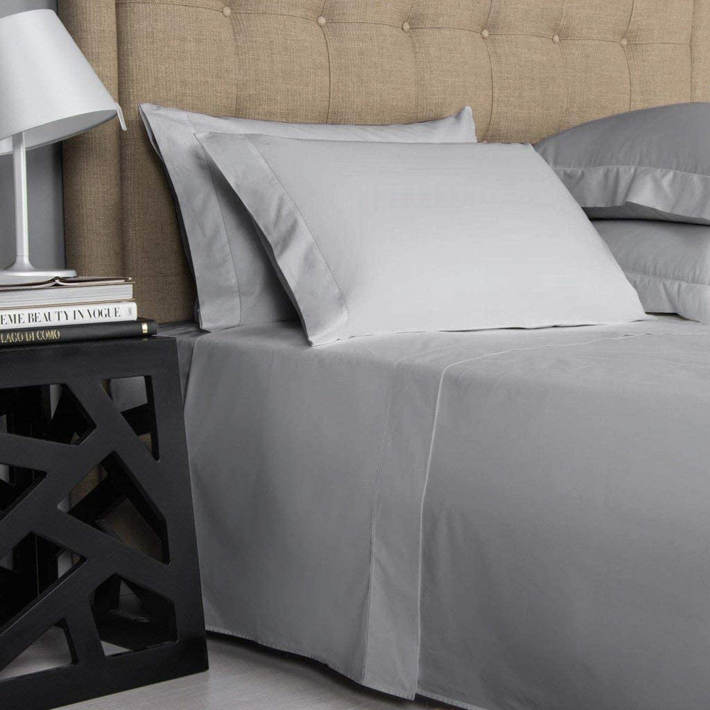 Extra Deep Wall Bedding Items 1000 TC Egyptian Cotton Grey Solid AU Sizes