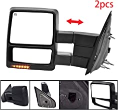 Qiilu Pair Automotive Exterior Mirrors Power Heated LED Signal Rearview Towing Mirrors Compatible with 2004 2005 2006 Ford F-150