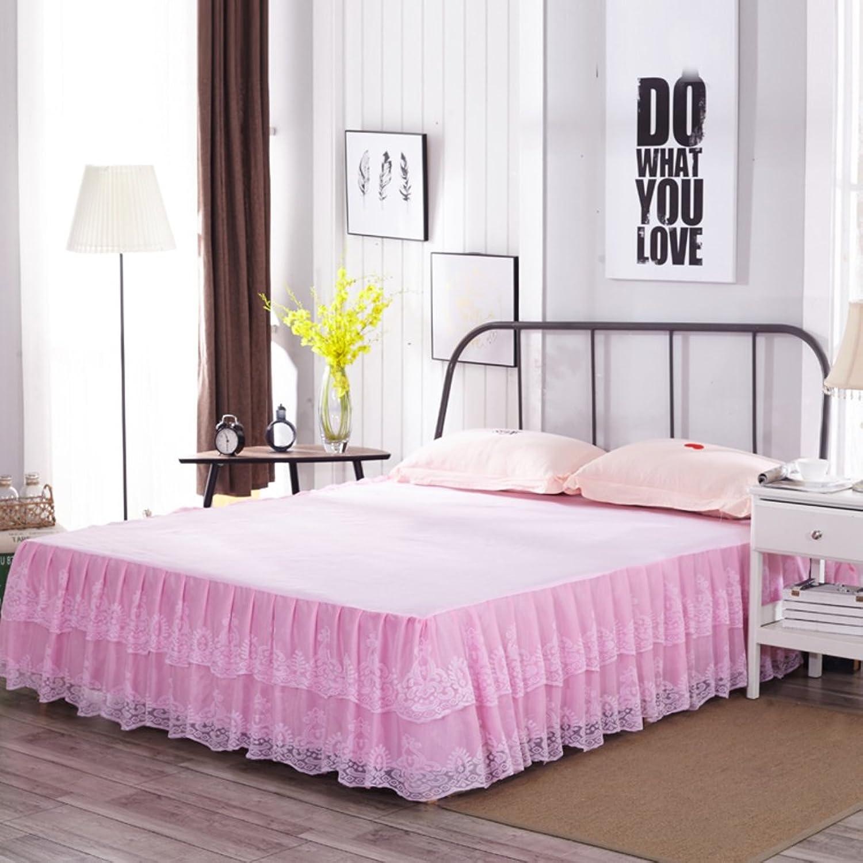 GX&XD Bed Skirt Bedspread Bed Sets Predector Single Lace Flounces AntiskiddingA 150x200cm(59x79inch)
