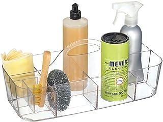 mDesign Panier de Rangement pour Articles ménagers – boîte Portable avec poignée Pratique – boîte de triage avec 11 Compar...