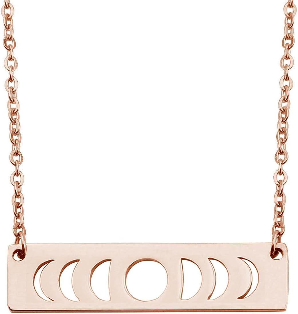Moon Phase Necklace Bar Jewelry Goddess San Antonio Mall Ranking TOP6 Pendant Triple