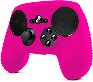 ParticleGrip STUDDED Skin for Steam Controller by Foamy Lizard – Sweat Free 100% Silicone Skin Cover w/Raised Anti-slip Studs *CONTROLLER NOT INCLUDED* (SKIN, PINK)