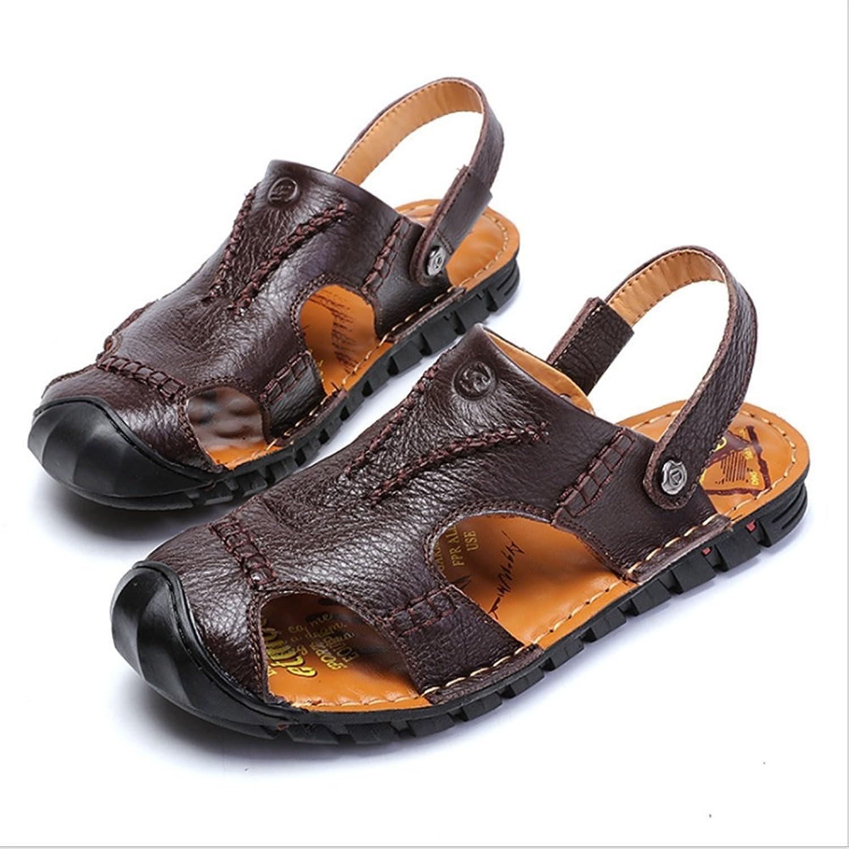 Casual Schuhe Atmungsaktive Sandalen Herren Outdoor Leder 5Rc34jLqAS