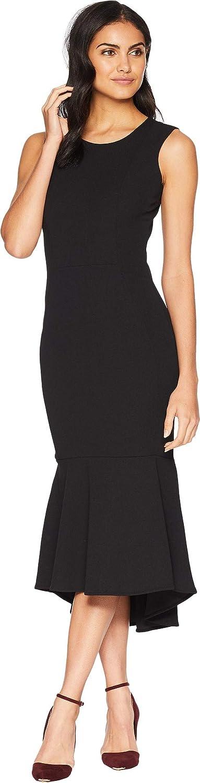Bebe Womens Flounce Tea Length Dress