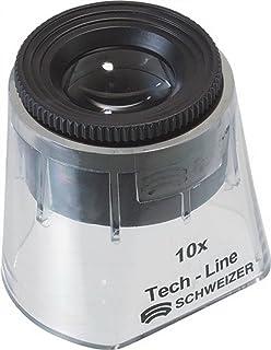 lentille 2X de 90 mm avec lentille de 4X // 20 mm ins/ér/ée SCHWEIZER Tech-Line syst/ème de lentilles aplan/étiques avec optique bifocale int/égr/ée loupe de pr/écision made in Germany Loupe /à main