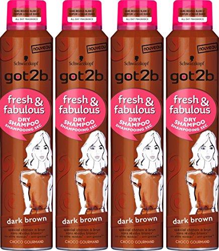 got2b Shampoo Sec Fresh/Fabulous Dunkelbraun, 4 Stück