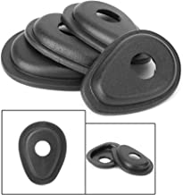 4 Pcs Front Rear Motorcycle Turn Signal Indicator Adapter Spacers Black Compatible With MT-07 FZ-07 MT-09 FZ-09 MT-10 ZX6R ZX7R ZX9R ZX12R