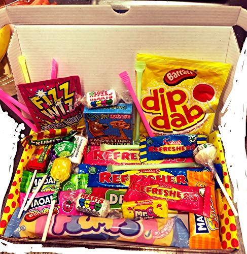 Dandy Candy 80s Retro Sweets Box. Fits through the letterbox!