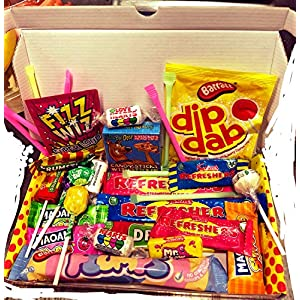 dandy candy eighties (80's) retro sweets and candy letterbox friendly gift box - the perfect affordable gift for any occasion with the best selection ever - great stocking fillers and christmas gifts Dandy Candy Eighties (80's) Retro Sweets And Candy Letterbox Friendly Gift Box – The Perfect Affordable Gift For Any… 61IvrdbSK1L