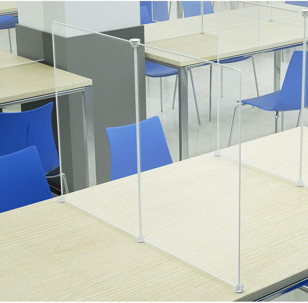 Can Be Assembled Freely Various Sizes Restaurant 4-Person Divider Shield for Shared Tables Break Room Hong xia shop Transparent Resin Sneeze Guard Cafeteria Ideal for School Office