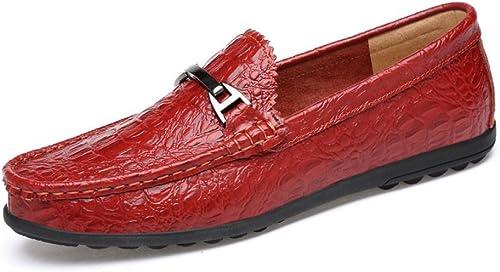 ZLLNSPX Mens Fashion Schuhe Fashion Bean Schuhe Fahren Schuhe