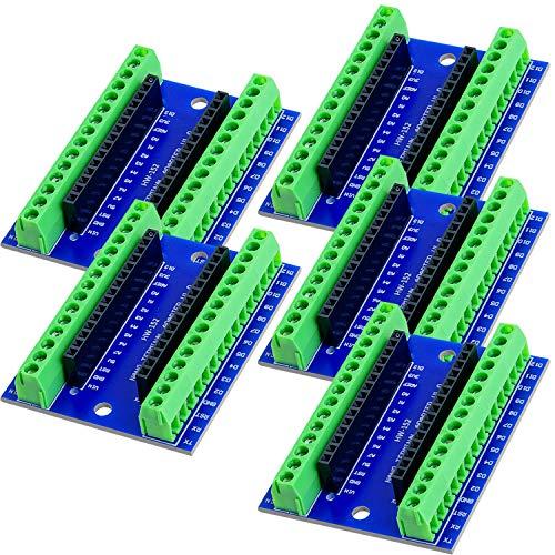 AZDelivery 5 x Nano Terminal Adapter Board mit Schraubklemmen, Modul Board kompatibel mit Arduino