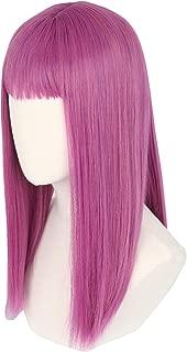 Topcosplay Kids Girls Mal Wig Purple Long Straight Cosplay Wig Halloween Costumes Wigs
