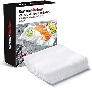 comprar comparacion Bonsenkitchen Bolsas de Vacio para Alimentos, 16x23cm 200 Bolsas Tamaño Estándar para Envasadora al Vacío - Bolsa de Vacío...