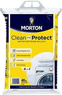 Morton Clean and Protect II Water Softening Pellets, 40-Pound, White, 40 Pound
