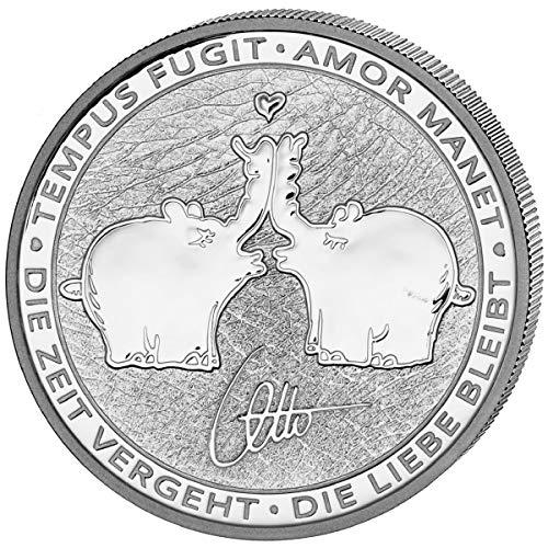 DEUTSCHER MÜNZEXPRESS Küssende Ottifanten Tuvalu 2020 | Silber | Anlagemünze