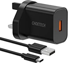 CHOETECH USB Wall Charger, 18W Quick Charge 3.0 Charger for Samsung Galaxy Note 10/Note 10 Plus,S10/S10 Plus/S10E,S9/S9 Plus/S8/S8 Plus,Note 9/8,iPhone 11/11 Pro/XS/XS Max/X/8 and More Devices