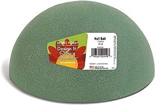 FloraCraft Floral Dry Foam Half Ball, FOBA8HBS/4/3, Green, 8 x 4