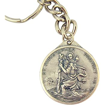 Miraculous Medal Durable Catholic Key Chain with Saint Medal Fob