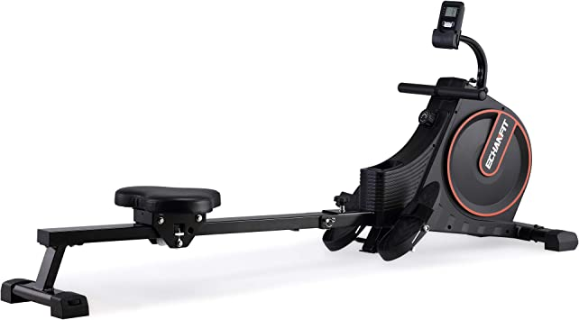 ECHANFIT Magnetic Rower Rowing Machine for Home Use Foldable w/16 Level of Quiet Magnetic Resistance with LCD Monitor and Adjustable Console Angle for Cardio Training (CR49)