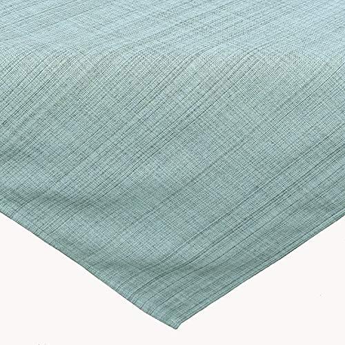 Kamaca Outdoor Tischdecke Gartentischdecke Garden - die perfekte Textile Decke für drinnen und draußen fleckabweisend witterungsbeständig knitterfrei (Mint - meliert, Tischdecke 90x90 cm)