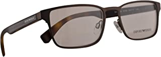 Emporio Armani EA 1063 Eyeglasses 53-17-140 Gunmetal Rubber w/Demo Clear Lens 3130 EA1063