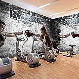 XHXI Cualquier tamaño abstracto boxeo gimnasio belleza chico sala de estar sofá TV muebles para el hogar imper Pared Pintado Papel tapiz Decoración dormitorio Fotomural sala sofá mural-400cm×280cm