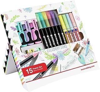 edding Coffret créatif, Contenu du set : 6 feutres, 5 mini-surligneurs, 4 marqueurs peinture brillante de couleur pastel