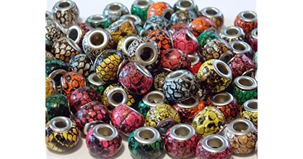 4mm Big Hole Bead Skull Bead by Compatible with 550 Parachute Cord and European Style Bracelets Midwest Cord Paracord Bead