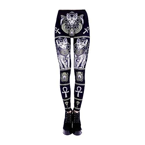 Sizes S Gothic Alternative Occult XXL//Black Restyle Clothing Sphinx Leggings