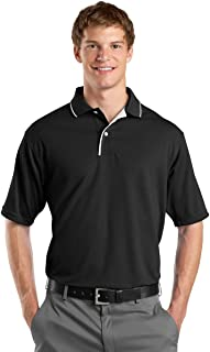 Men's Dri Mesh Polo with Tipped Collar and Piping