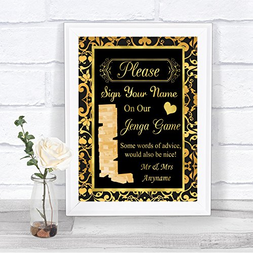 Cartel de boda personalizable con mensaje en inglés