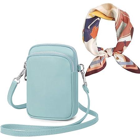 Wind Took Handy Schultertasche Kleine Damen Umhängetasche Handytasche Brieftasche Kartentasche Crossbody Bag Mini Sack (A - Puristisches Blau)