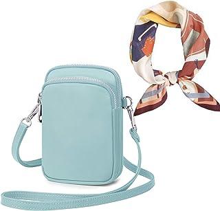 Wind Took Handy Schultertasche Kleine Damen Umhängetasche Handytasche Brieftasche Kartentasche Crossbody Bag Mini Sack (A...