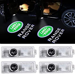 4pack Car Door Led Lights Projector Logo Shadow Ghost Light for Land Rover Range Rover 2007-2019 Compatible Welcome Lamp A...