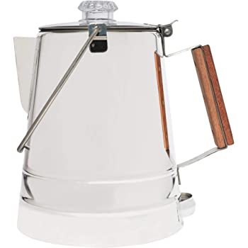 COLETTI Butte Camping Coffee Pot | Campfire Coffee Pot | Stainless Steel Coffee Maker for Outdoors or Stovetop – 14 Cup