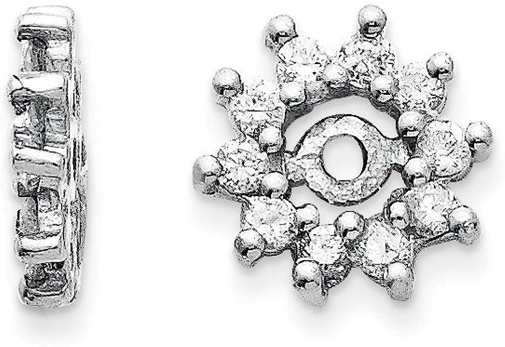 Solid 14k White Gold Diamond Earring Jacket 9mm (.3 cttw.)