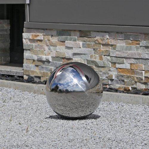 CLGarden 25cm de boule en acier inoxydable 25 raccords en acier inoxydable poli balle flottante
