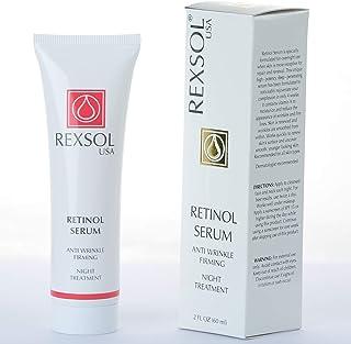 REXSOL Retinol Serum Anti wrinkle Firming | Best antioxidant serum for face | Pure Vitamin C for face, Pure Retinol Vitami...