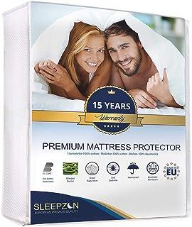 ⭐ Protector de Colchón Impermeable 135x190 cm, Muletón 100%, Cubre Colchón - Anti-ácaros, A...