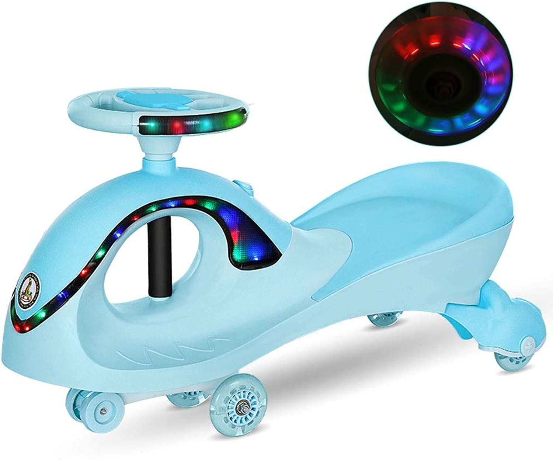 Kinder Twist Auto,Swing Car Spielzeug Swing Wiggle Gyro Swivel Roller Spa Geschenk Fahrt Musik Lenkrad Tragbare Silent Flash Rad