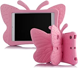iPad Mini Case for Kids, Light Weight Cute Butterfly Design Shockproof Drop-Proof Soft EVA Foam Protective Tablet Case Cover for Apple iPad Mini 1/2/3/4 - Pink