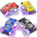 Light Up Monster Truck Set for Boys and Girls by ArtCreativity - Set Includes 2, 6 Inch Monster Trucks with Beautiful Flashing LED Tires - Push n Go Toy Cars Best Gift for Kids - for Ages 3+ from ArtCreativity