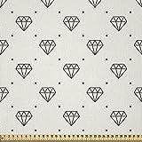ABAKUHAUS Diamanten Stoff als Meterware, Polka Dots